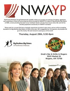 NWAYP Presents: Drinks On Us At Grub's For Charity!