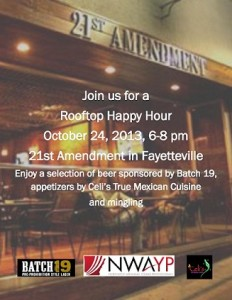 NWAYP Rooftop Happy Hour at 21st Amendment