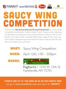 NWAYP Saucy Wing Competition benefiting the Children's Safety Center